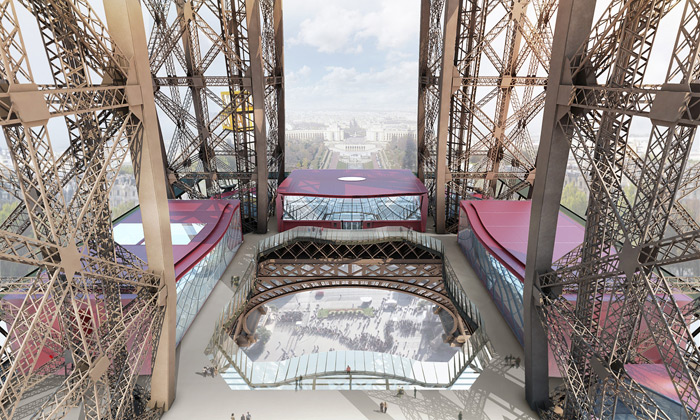 První patro Eiffelovy veže dostává zcela novou tvář