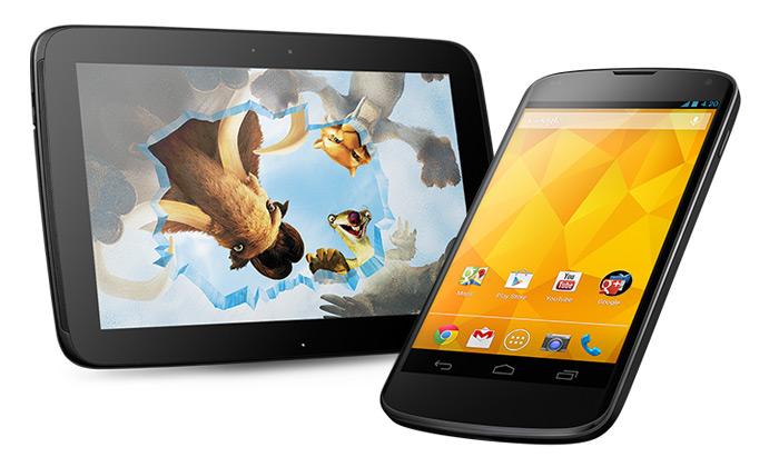 Google uvádí jemný tablet Nexus 10 amobil Nexus 4