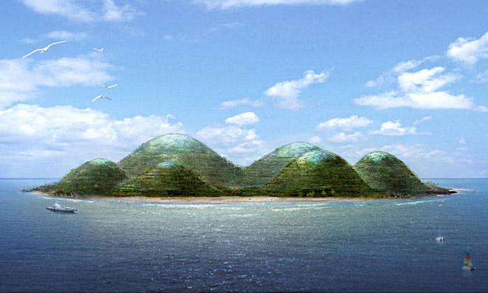 Dror navrhli umělý ostrov HavvAda sobytnými kopci