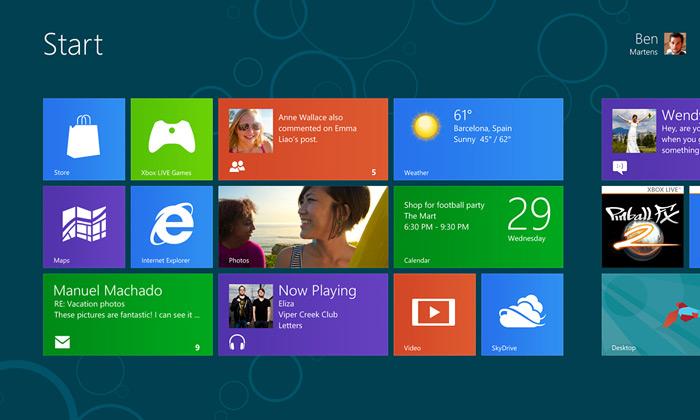Microsoft uvedl Windows8 srevolučním ovládáním