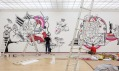Záběr z instalace výstavy Městem posedlí v GHMP