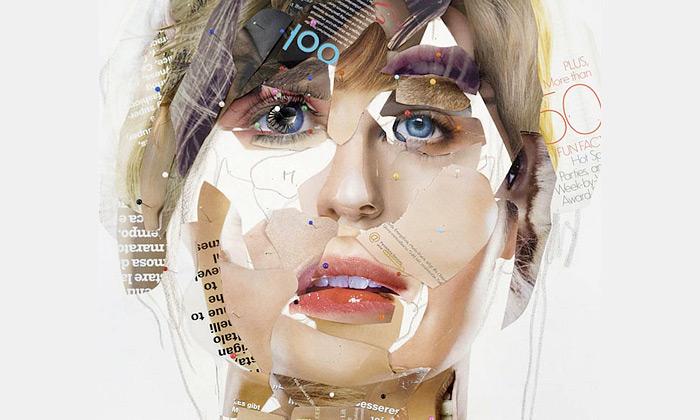Gabi Trinkaus tvoří portréty zvýstřižků časopisů
