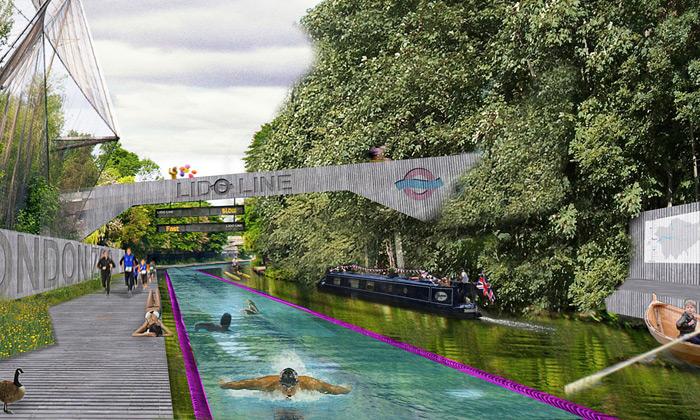 Londýn plánuje kanál LidoLine pro sport idopravu