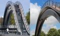 Nizozemský most Melkwegbridge ve městě Purmerend
