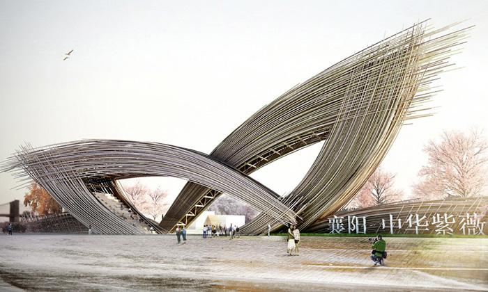 Prechteck postaví vČíně bránu parku stvarem listů