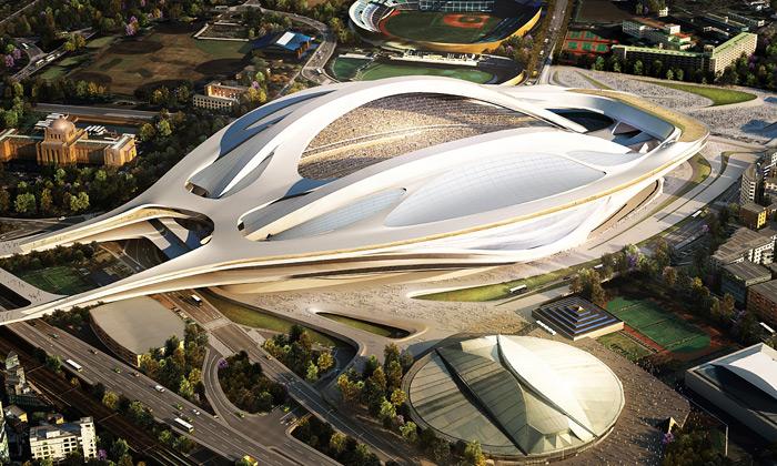 Vítězný návrh od Zaha Hadid Architects na Národní stadion Japonska