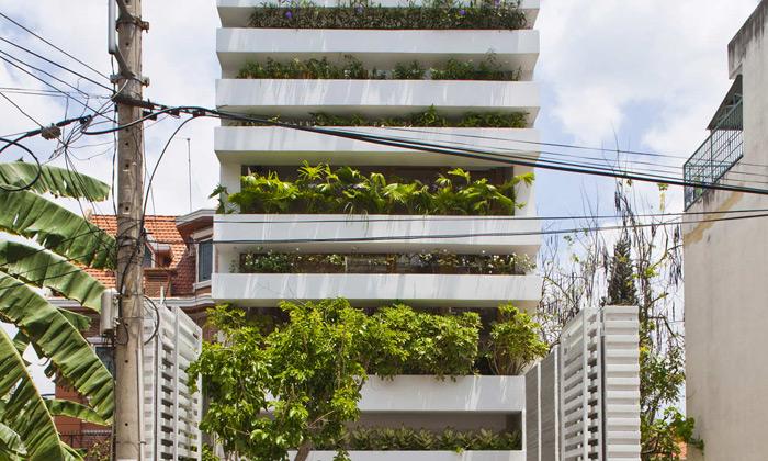 Saigon má čtyři metry široký dům prokládaný zelení
