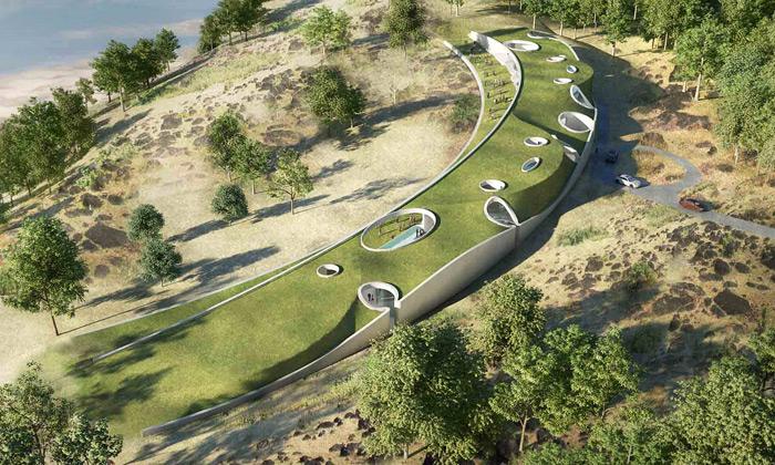 Indie staví Aarvli Resort nenápadně ukrytý vzemi