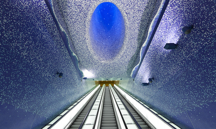Neapol otevřela podmořskou stanici metra Toledo