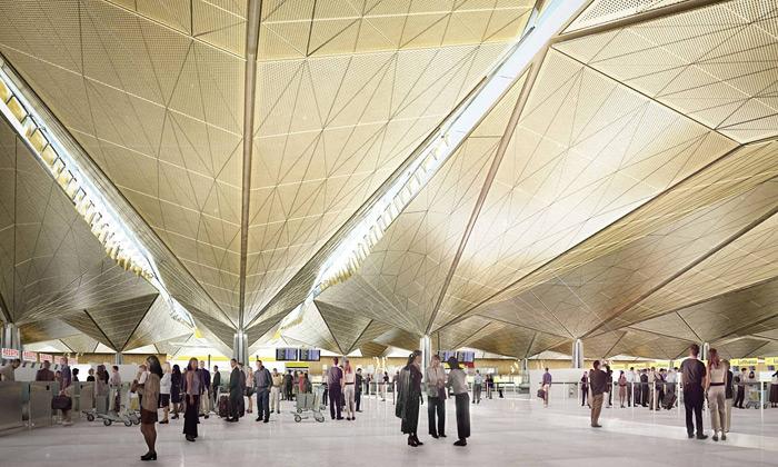 Petrohradské letiště Pulkovo chystá zlatou střechu