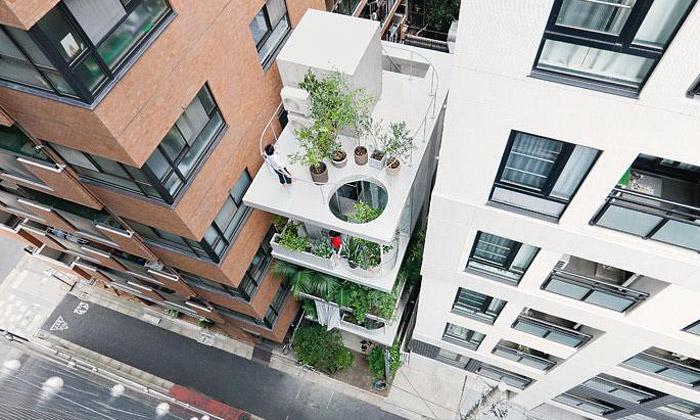 Prosklený tokijský dům jezpoloviny spíše zahradou