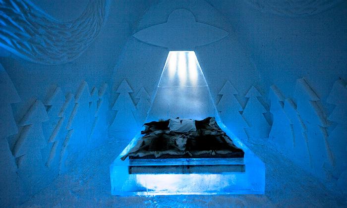 Ice Hotel má nový pokoj slétajícími mimozemšťany