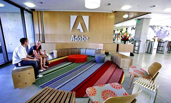 Adobe má vUtahu stylové grafikou nabité kanceláře