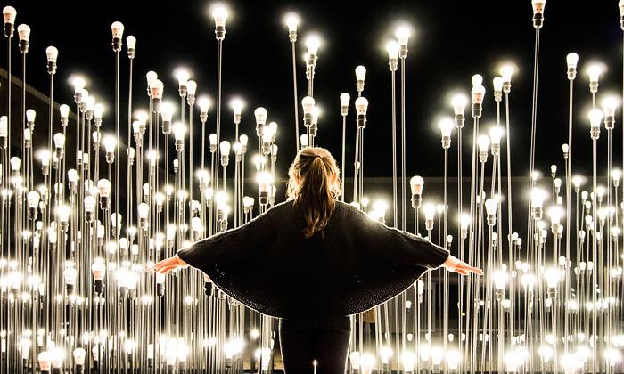 Lisabon veřejně vystavil světelnou krajinu LEDscape