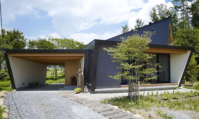 Moderní japonská vila odMDS má tradiční interiér