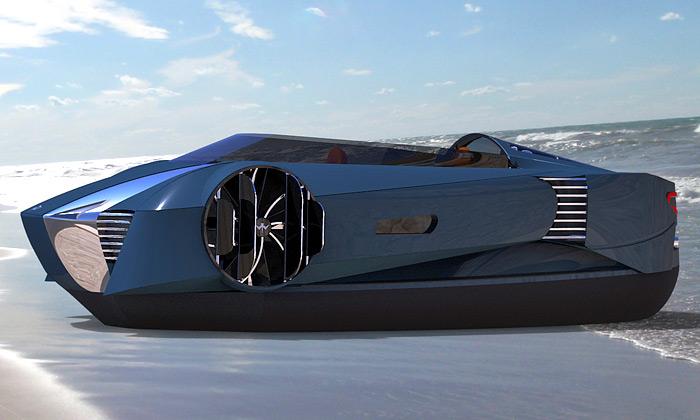 Mercier-Jones navrhli luxusní futuristické vznášedlo