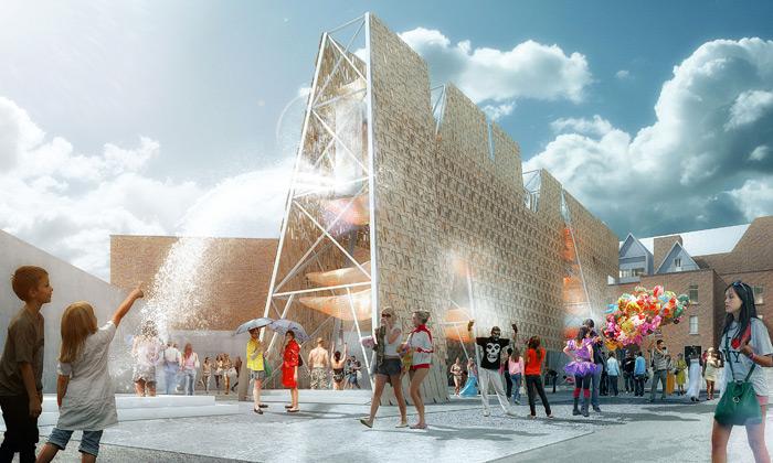 MoMA PS1 postaví nanádvoří veřejnou Party Wall