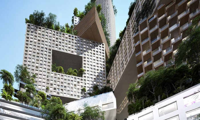 MVRDV postaví vJakartě vertikální město Peruri 88