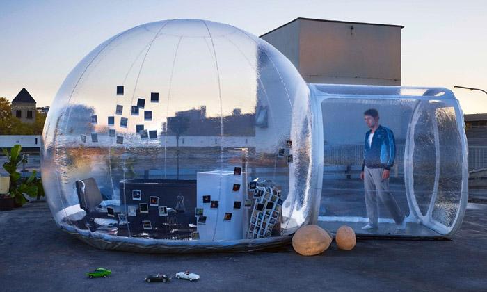 Bubble jevenkovní koupelna uzavřená vbublině