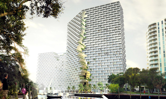 BIG postaví naFloridě bytový dům sobří prasklinou