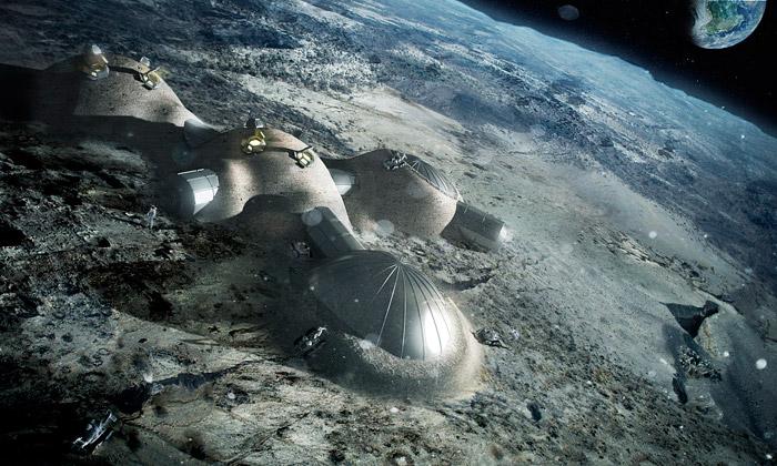 Foster navrhuje měsíční základny pomocí 3D tisku