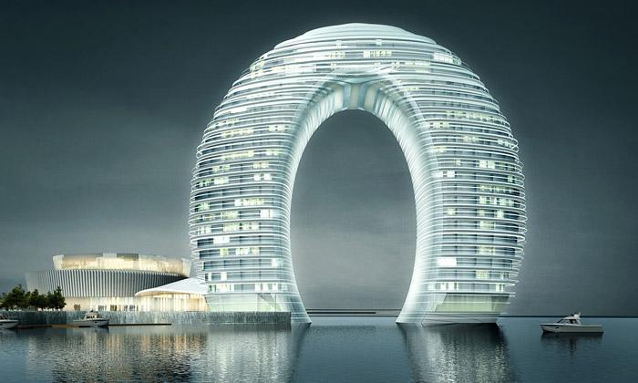 MAD dokončili hotel Sheraton tvaru mořské brány