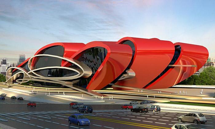 Čína postaví futuristické výstaviště automobilů Oasis