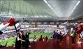 Grand Stade Rugby v Évry u Paříže od Populous a ateliéru 2/3/4/