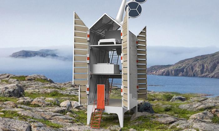 Ekologicky šetrný dům Isolée od studia Tjep