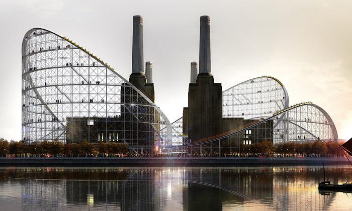 Navržena horská dráha pro elektrárnu Battersea