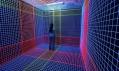 Jeongmoon Choi a instalace z UV světla a vlněných vláken