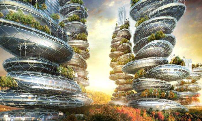 V Číně chtějí postavit ekologické sci-fi farmodrapy