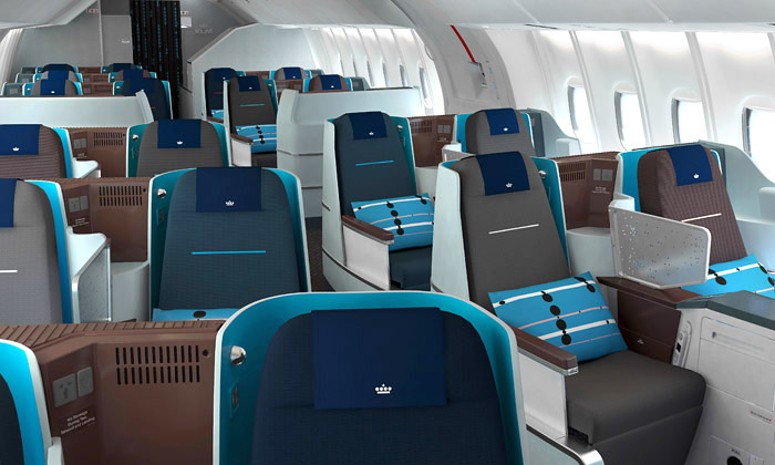 Nový interiér letadel společnosti KLM od Jongeriuslab designérky Helly Jongerius