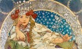 Ukázka zvýstavy plakátů Alfonse Muchy ze sbírky Ivana Lendla