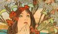 Ukázka z výstavy plakátů Alfonse Muchy ze sbírky Ivana Lendla