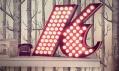 Delightfull a jejich písmena jako světla v sérii Graphic Lamp Collection