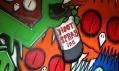 Pomalovaný dům v rámci Dulwich Festival zaměřeného na street art