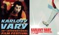 Starší plakáty mezinárodního filmového festivalu v Karlových Varech