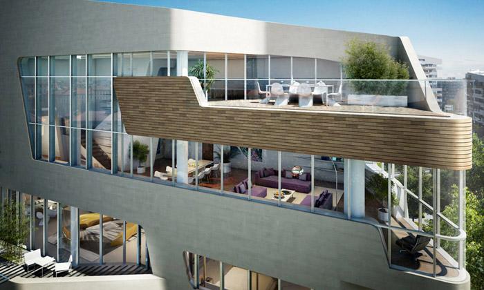 Zaha Hadid aLibeskind staví vMiláně luxusní byty