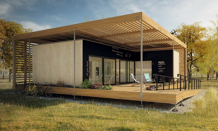 Čeští studenti postavili dřevěný dům budoucnosti