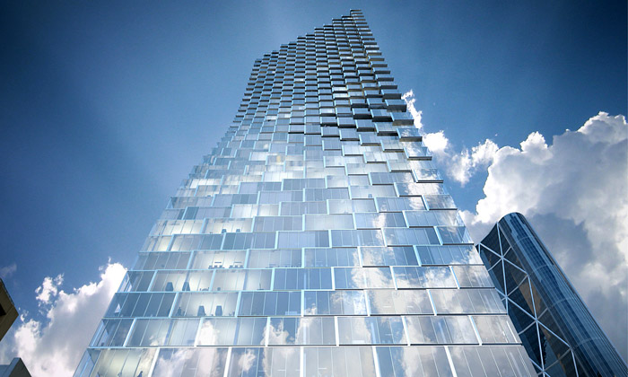 Calgary staví zkroucený skleněný mrakodrap odBIG