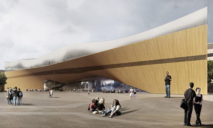 Helsinky postaví zkroucenou knihovnu plnou dřeva