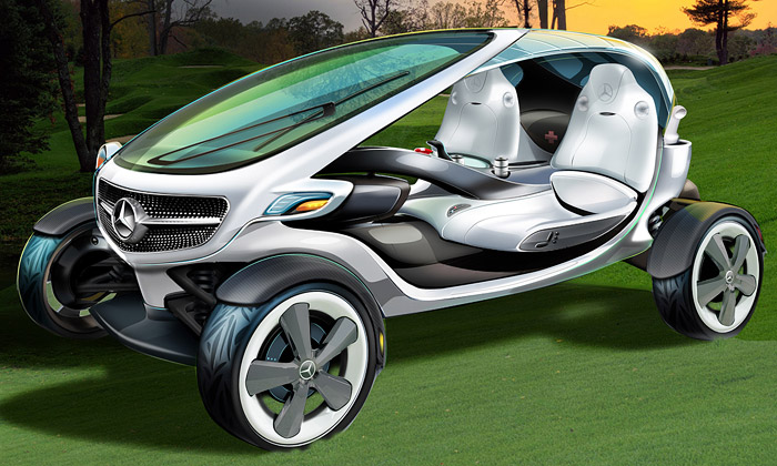 Mercedes-Benz ukázal golfový vozík Vision Golf Cart