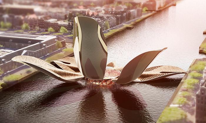 Francouzi navrhli Amsterdamu most jako tulipán