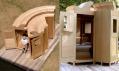Vystavená mobilní zařízení pro přenocování na Urban Campsite