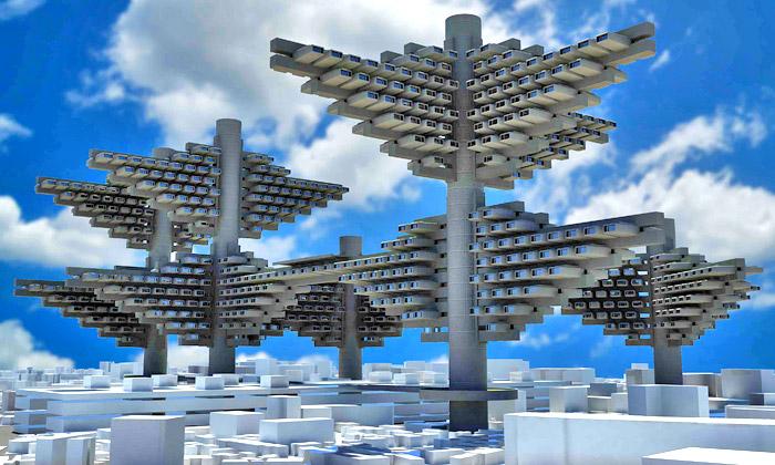 Vystaveny futuristické vize japonských měst 60.let