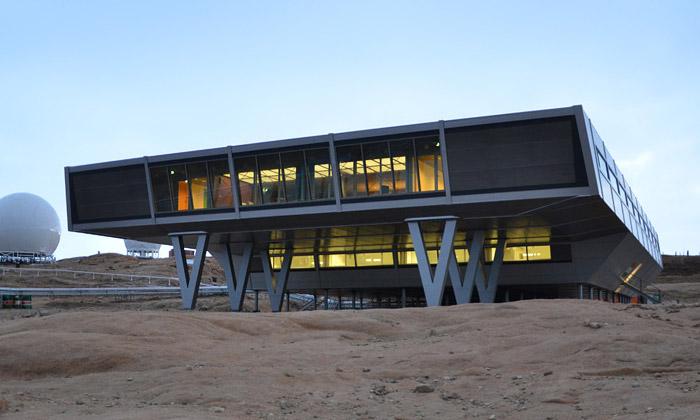 Arktická stanice Bharati složena ze 134 kontejnerů