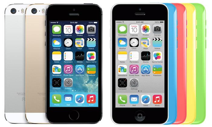 Apple předvedl nový iPhone5s aplastový iPhone5c
