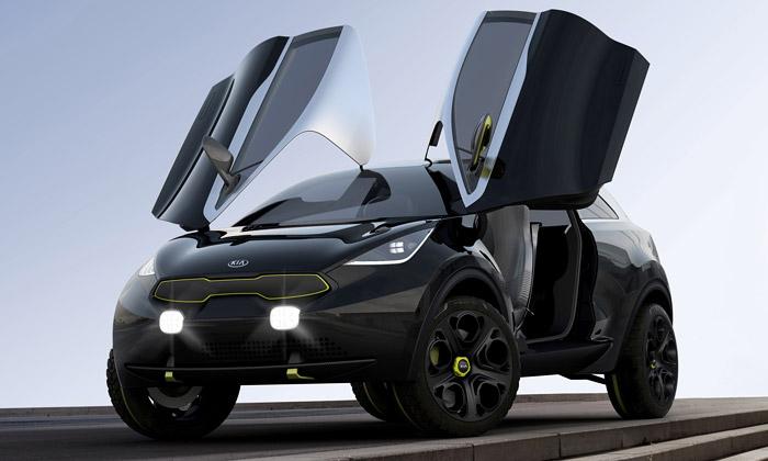 Kia Niro jeextravagantní SUV svýklopnými dveřmi