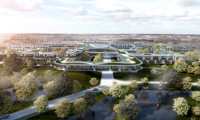Dánsko postaví největší nemocnici uprostřed lesa